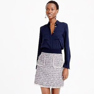 J.Crew Multicolored Tweed Mini Skirt With Pockets